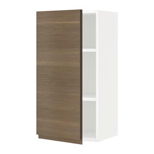 metod wandschrank mit b den wei voxtorp nussbaumnachbildung 40x80 cm ikea. Black Bedroom Furniture Sets. Home Design Ideas