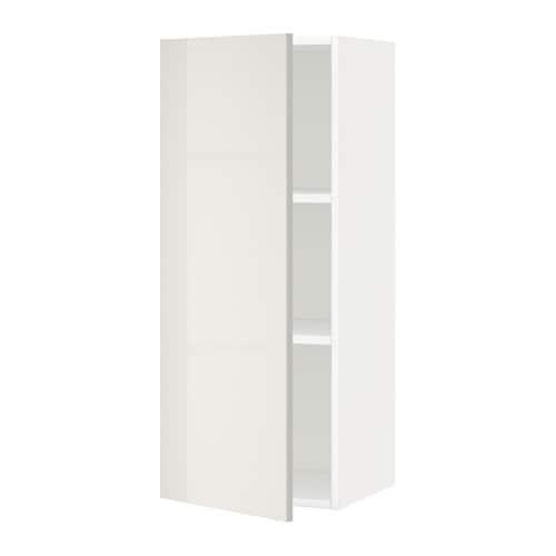 metod wandschrank mit b den wei ringhult hochglanz hellgrau 40x100 cm ikea. Black Bedroom Furniture Sets. Home Design Ideas
