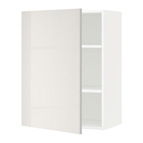metod wandschrank mit b den wei ringhult hochglanz hellgrau 60x80 cm ikea. Black Bedroom Furniture Sets. Home Design Ideas