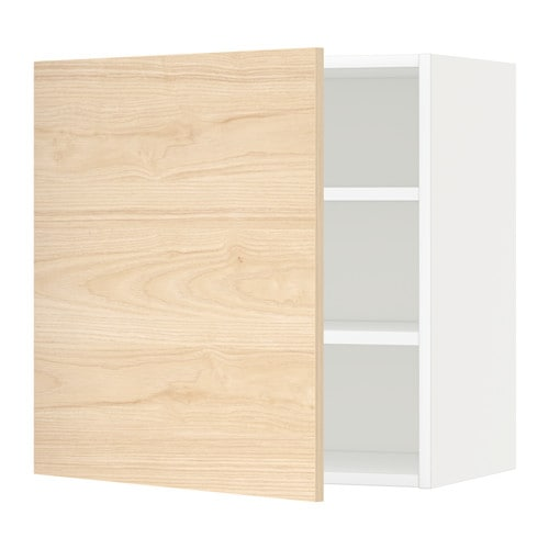 metod wandschrank mit b den wei askersund eschenachbildung hell 60x60 cm ikea. Black Bedroom Furniture Sets. Home Design Ideas