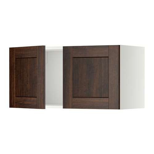 metod wandschrank mit 2 t ren wei edserum holzeffekt braun ikea. Black Bedroom Furniture Sets. Home Design Ideas