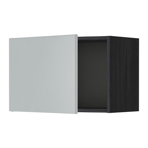 metod wandschrank holzeffekt schwarz veddinge grau 60x40 cm ikea. Black Bedroom Furniture Sets. Home Design Ideas