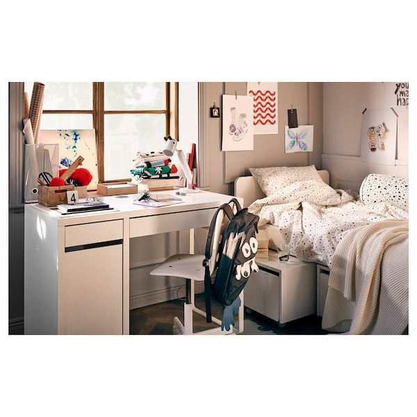MICKE Schreibtisch, weiß, 105x50 cm