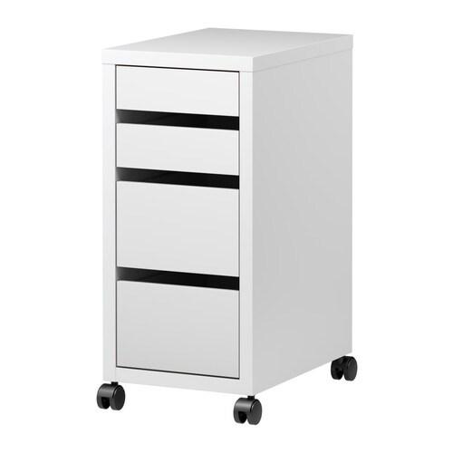 Rollcontainer ikea schwarzbraun  MICKE Schubladenelement auf Rollen - weiß - IKEA