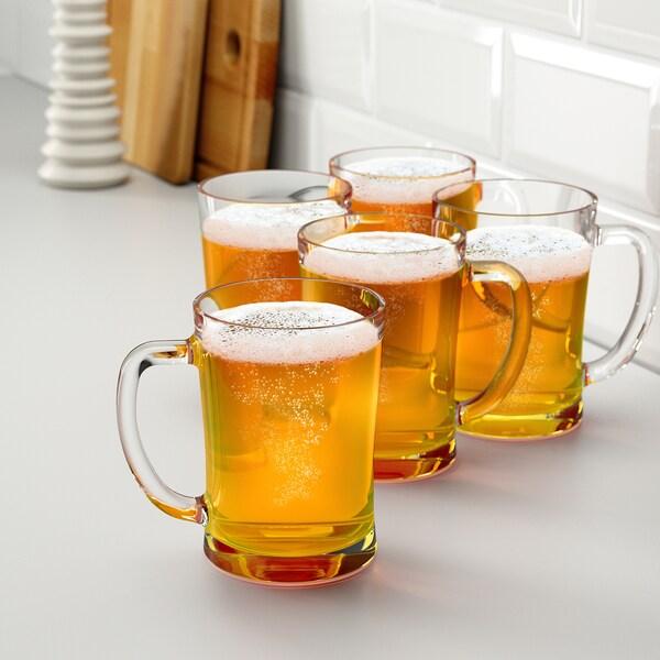 MJÖD Bierkrug Klarglas 14 cm 60 cl