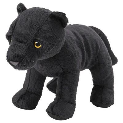 MJUKHET Stoffspielzeug, Pantherjunges/schwarz, 28 cm