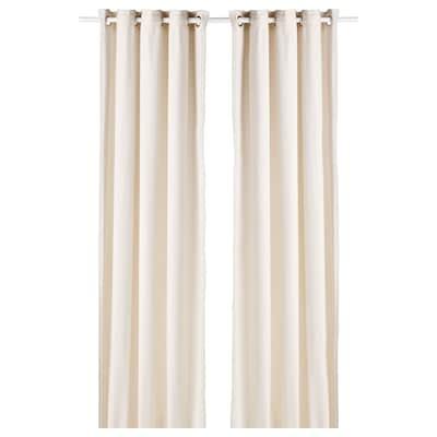 MOALINA 2 Gardinenschals, beige, 145x300 cm