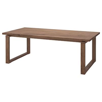 MÖRBYLÅNGA Tisch, Eichenfurnier braun las., 220x100 cm