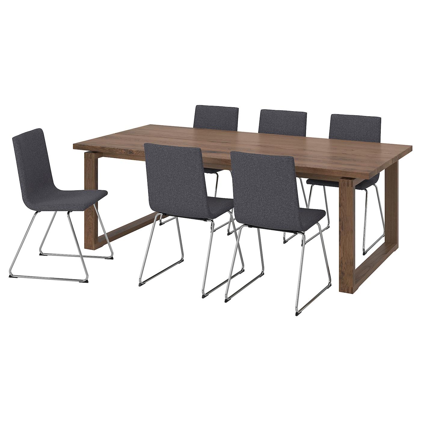 MÖRBYLÅNGA / VOLFGANG Tisch und 6 Stühle
