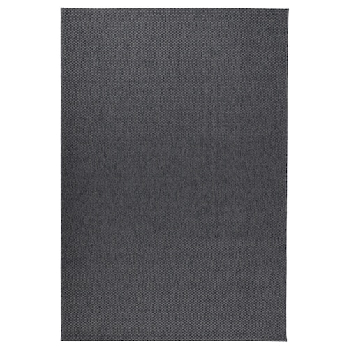 MORUM Teppich flach gewebt, drinnen/drau dunkelgrau 300 cm 200 cm 5 mm 6.00 m² 1385 g/m²