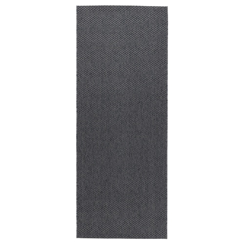 MORUM Teppich flach gewebt, drinnen/drau dunkelgrau 200 cm 80 cm 5 mm 1.60 m² 1385 g/m²