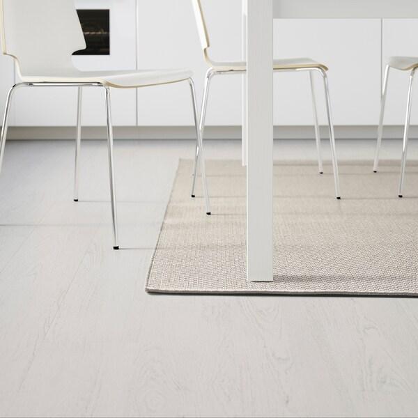 MORUM Teppich flach gewebt, drinnen/drau, beige, 160x230 cm