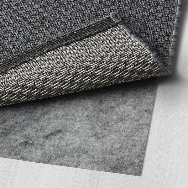 MORUM Teppich flach gewebt, drinnen/drau, dunkelgrau, 200x300 cm