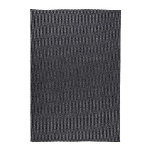 Morum Teppich Flach Gewebt Drinnen Drau Dunkelgrau 200x300 Cm Ikea