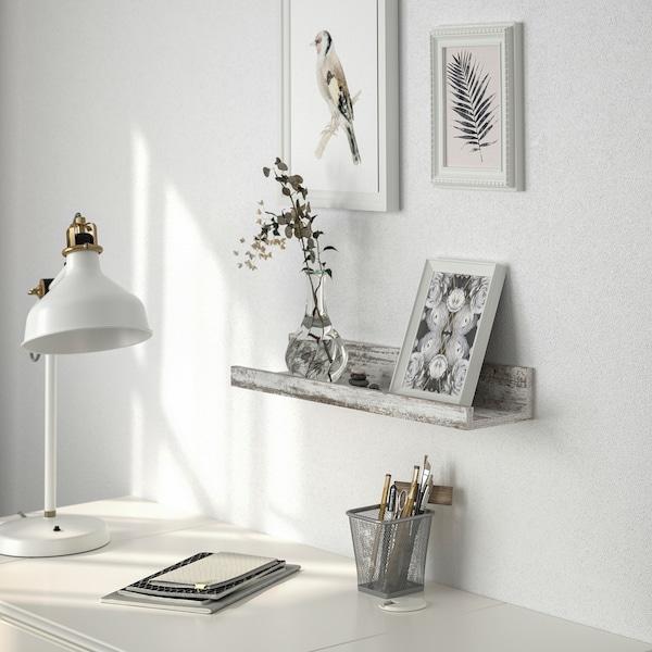 MOSSLANDA Bilderleiste, weiß Kieferneffekt, gebeizt, 55 cm