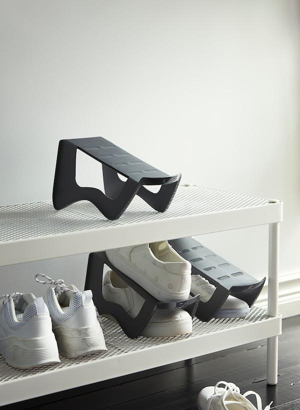 MURVEL Schuhaufbewahrung, grau, 14x14x24 cm