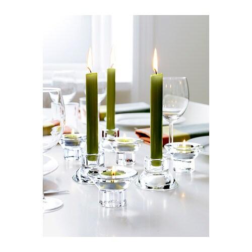 10 x ikea kerzenhalter teelichthalter kerzenst nder glas teelichtgl ser neu ebay. Black Bedroom Furniture Sets. Home Design Ideas
