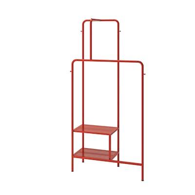 NIKKEBY Garderobenständer, rot, 80x170 cm