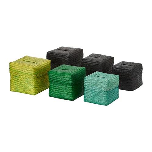 nipprig 2015 korb mit deckel 3er set versch farben ikea. Black Bedroom Furniture Sets. Home Design Ideas