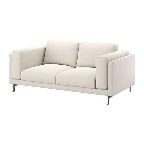 nockeby 2er sofa tallmyra hellbeige verchromt ikea. Black Bedroom Furniture Sets. Home Design Ideas