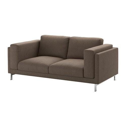 nockeby 2er sofa ten braun verchromt ikea. Black Bedroom Furniture Sets. Home Design Ideas
