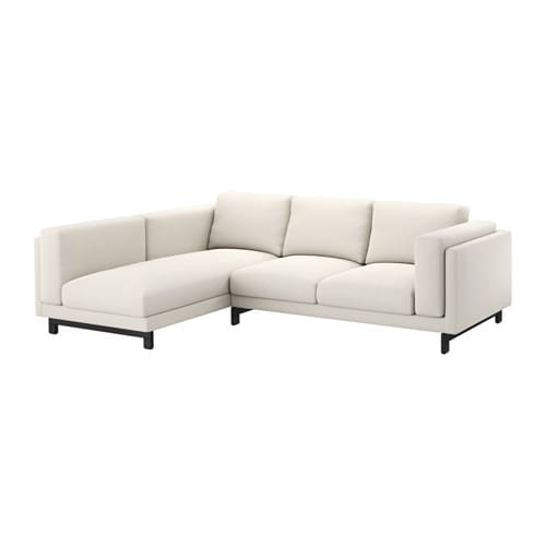 nockeby 2er sofa mit r camiere links links tallmyra hellbeige holz ikea. Black Bedroom Furniture Sets. Home Design Ideas