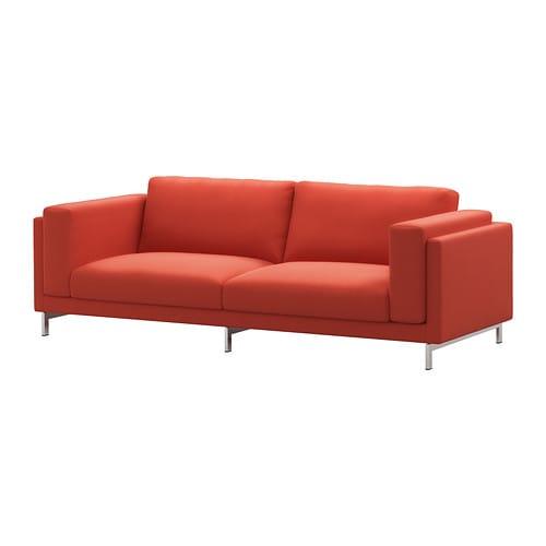 nockeby 3er sofa verchromt risane orange ikea. Black Bedroom Furniture Sets. Home Design Ideas