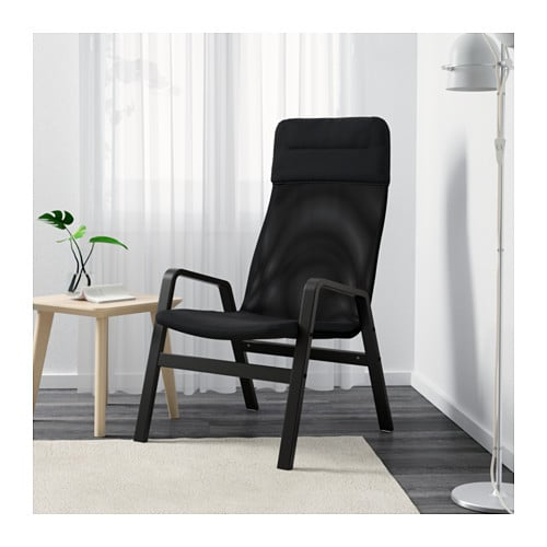 ikea nolbyn sessel ruhesessel lesesessel terassenstuhl relaxsessel schwarz stuhl ebay. Black Bedroom Furniture Sets. Home Design Ideas