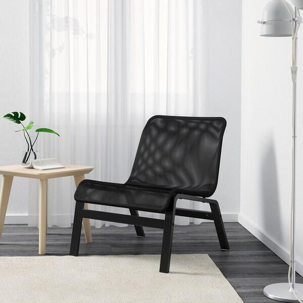 NOLMYRA Sessel, schwarz/schwarz