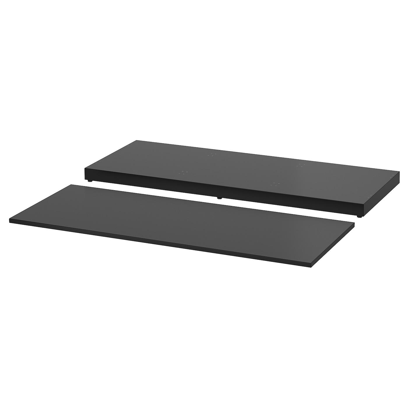 NORDLI, Deckplatte und Sockel, anthrazit 803.659.96