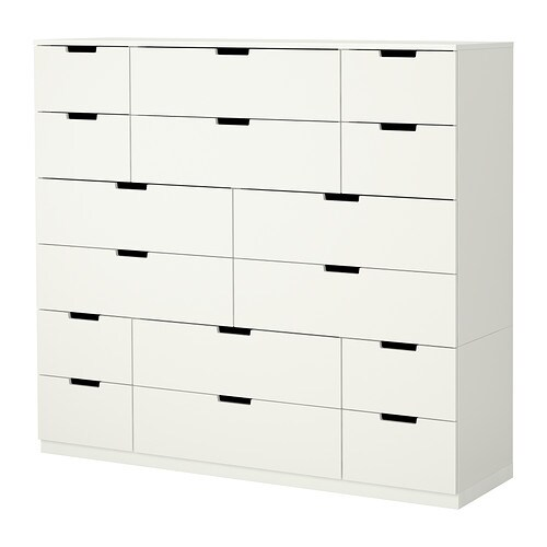 nordli kommode mit 16 schubladen ikea. Black Bedroom Furniture Sets. Home Design Ideas