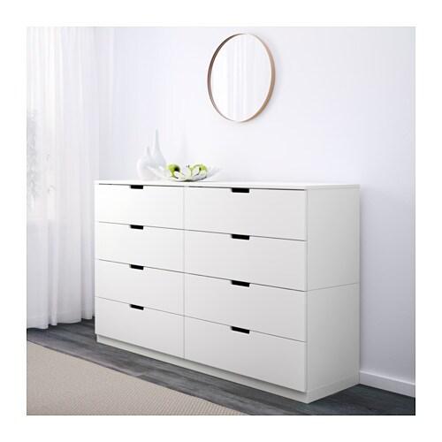 nordli kommode mit 8 schubladen ikea. Black Bedroom Furniture Sets. Home Design Ideas