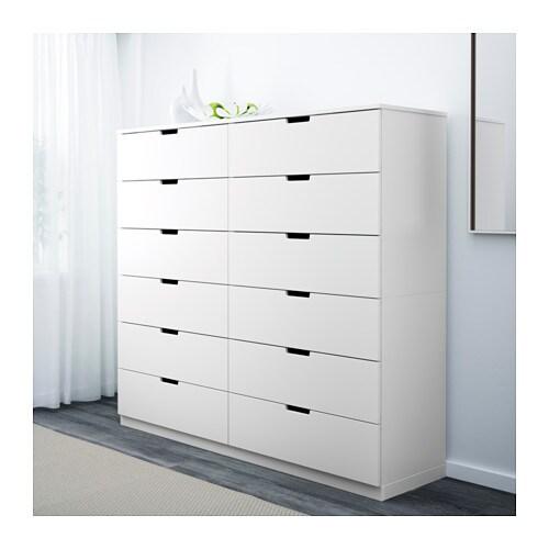nordli kommode mit 12 schubladen ikea. Black Bedroom Furniture Sets. Home Design Ideas