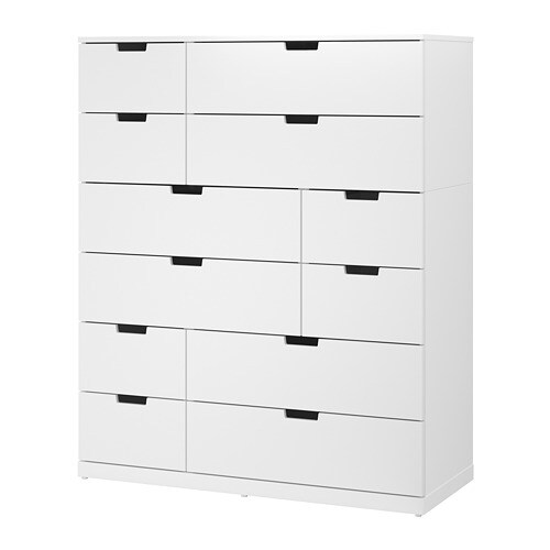 Nordli Kommode Mit 12 Schubladen Weiss Ikea