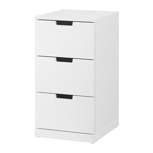 Nordli Kommode Mit 3 Schubladen Weiss Ikea