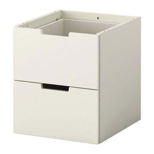 nordli schubladenelement 2 schubl 40x45 cm ikea. Black Bedroom Furniture Sets. Home Design Ideas