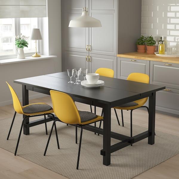 NORDVIKEN LEIFARNE Tisch Und 4 Stühle Schwarz