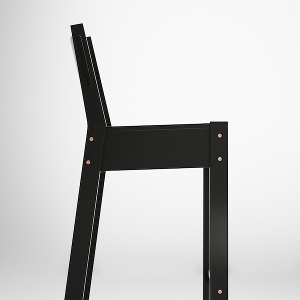 NORRÅKER Barhocker schwarz 120 kg 42 cm 48 cm 100 cm 33 cm 38 cm 74 cm
