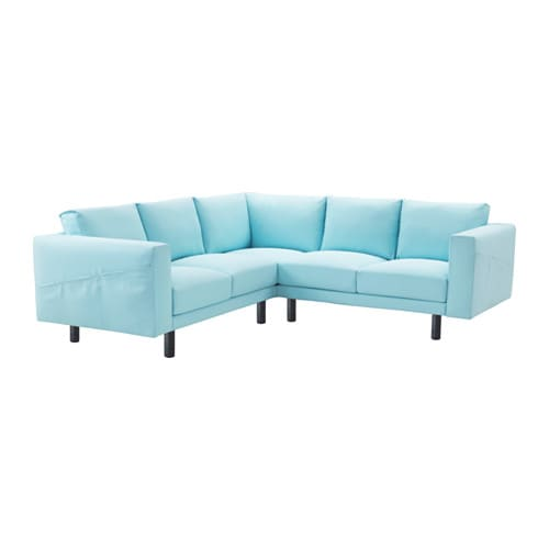 norsborg ecksofa 2 2 edum hellblau grau ikea. Black Bedroom Furniture Sets. Home Design Ideas