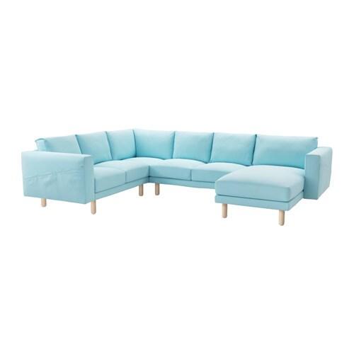 norsborg ecksofa 2 2 mit r camiere edum hellblau birke ikea. Black Bedroom Furniture Sets. Home Design Ideas