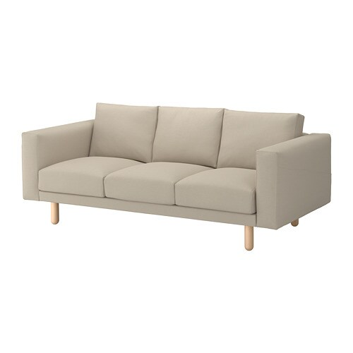 norsborg 3er sofa edum beige birke ikea. Black Bedroom Furniture Sets. Home Design Ideas