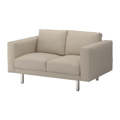 NORSBORG 2er-Sofa - Edum beige, Metall - IKEA