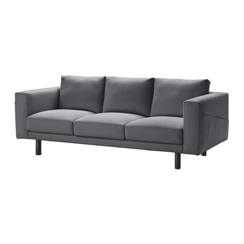 norsborg 3er sofa finnsta dunkelgrau grau ikea. Black Bedroom Furniture Sets. Home Design Ideas