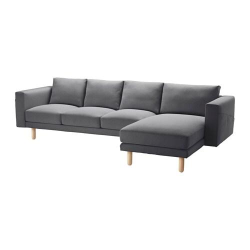 NORSBORG 4er-Sofa - Finnsta dunkelgrau, Birke - IKEA