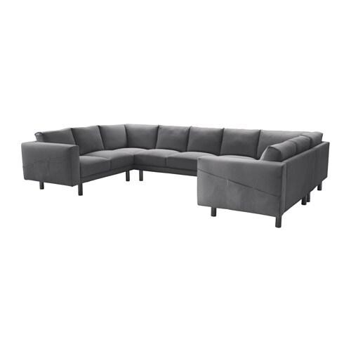 IKEA NORSBORG 9er-Sofa, U-Form - grau, Finnsta dunkelgrau ...