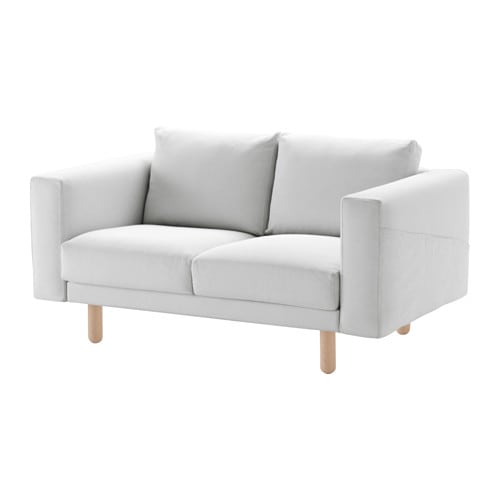 Enfield Modern White Leather Sofa: Finnsta Weiß, Birke