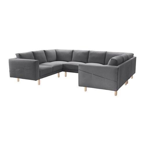 norsborg sofa u form 6 sitzig finnsta dunkelgrau birke. Black Bedroom Furniture Sets. Home Design Ideas
