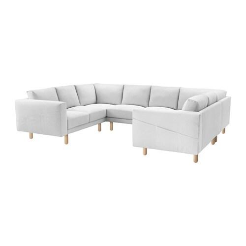Norsborg Sofa U Form 6 Sitzig Finnsta Weiss Birke Ikea