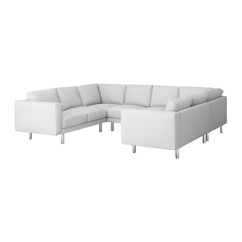 norsborg sofa u form 6 sitzig finnsta wei metall ikea. Black Bedroom Furniture Sets. Home Design Ideas