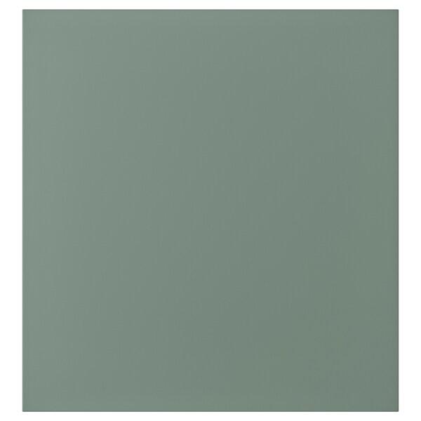 NOTVIKEN Tür, graugrün, 60x64 cm